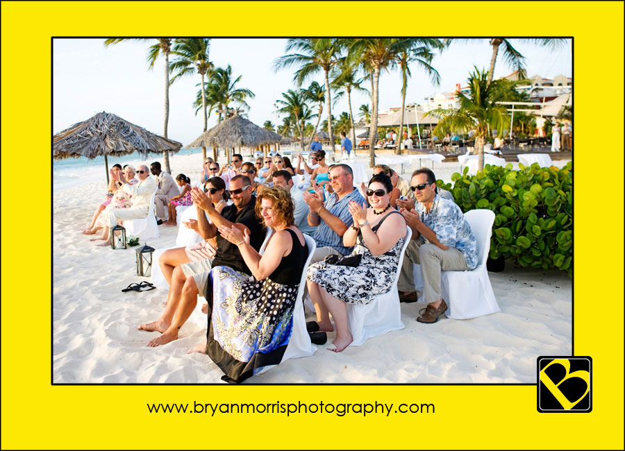 Beach wedding at Bucuti Beach Resort Aruba