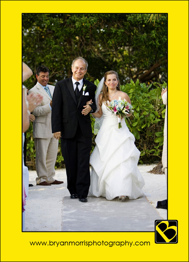 Father and Brid Walking Down Aisle