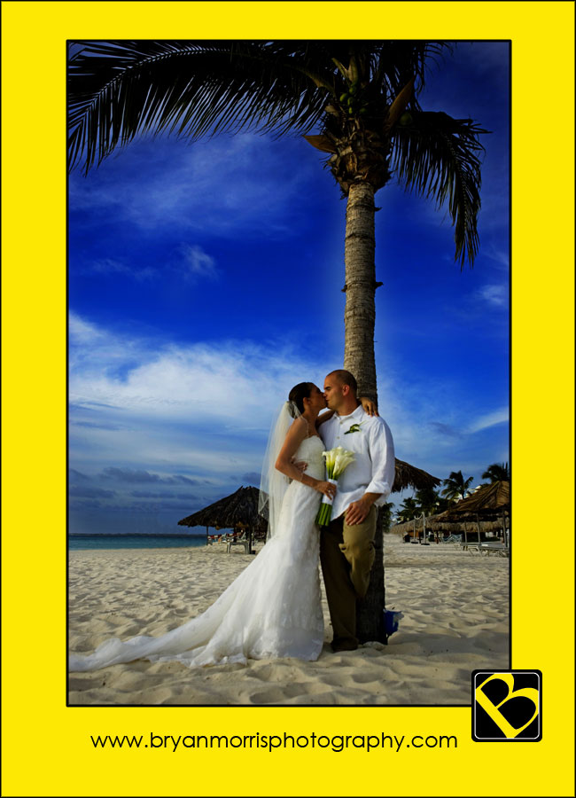 Tropical Destination Wedding Portrait