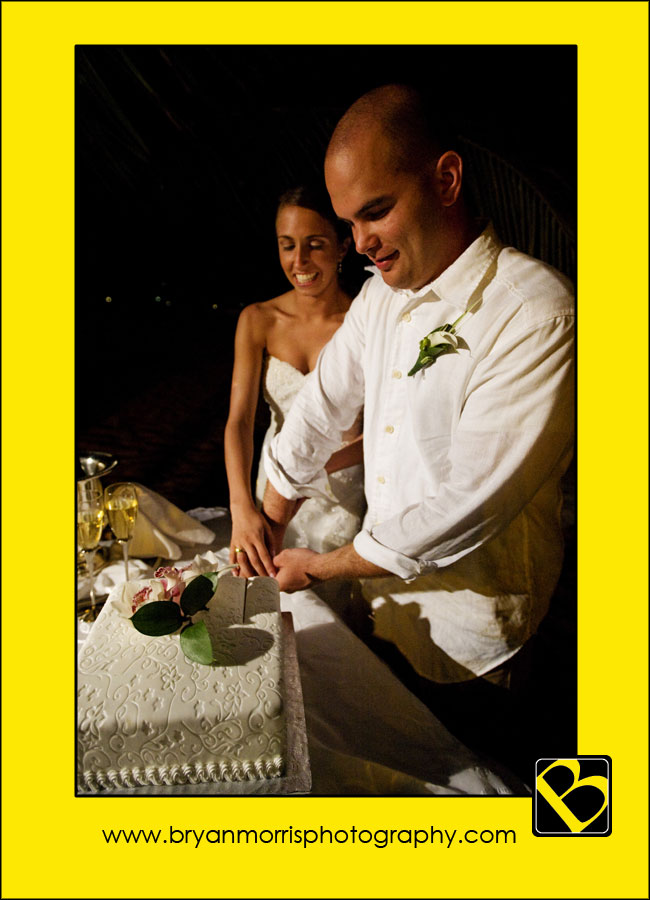 Cake Cutting Ceremony At The Bucuti Beach Resort Aruba