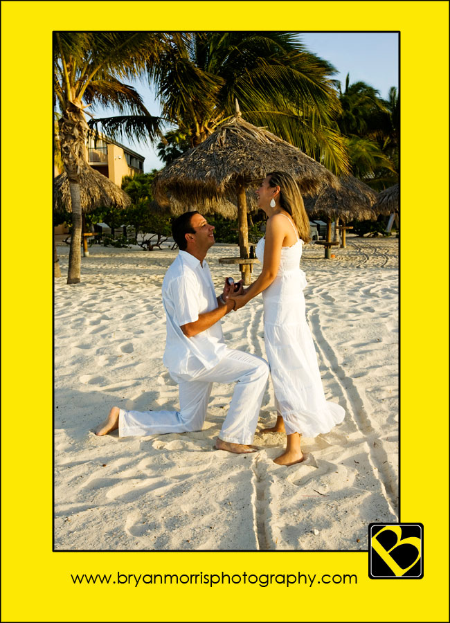 Romantic Wedding Proposal On The Eagle Beach Aruba